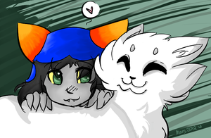 Hivebent: Nepeta n Pounce by xBadgerclaw