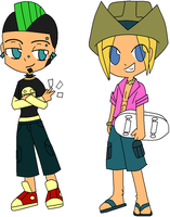 TDI: Geoff+Duncan chibi collab by xxSomethingWicked