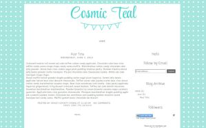 Blogger Template- Cosmic Teal by tiny-moon