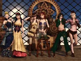 Disney Girls goes Steampunk by chanandra