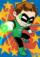 Super Powers Green Lantern Hal Jordan Art Card by kevinbolk