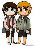 Frodo and Sam - Chibis by Catatouille101