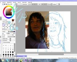 Drawing my mom :WIP: by Shadyyayay