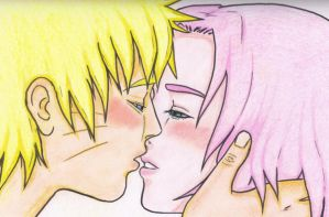 NaruSaku: kiss by silentcry89