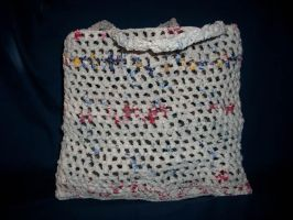 Crochet Plastic Bag Yarn Bag by HookedonPlushies