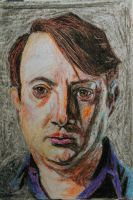 David Mitchell in nasty crayon by Nippip
