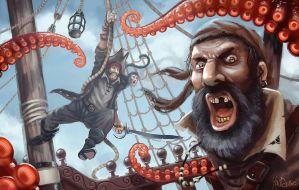 Kraken Attack by Traaw