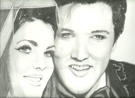Elvis And Priscilla by donna-j