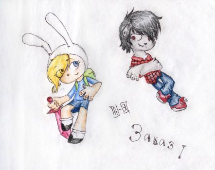 Fiona and Marshall Lee by Amelia-Ducent