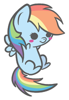 Chibi Filly Rainbow Dash by Freakization