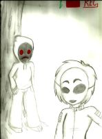 Creepypasta - Masky and Hoody by X-Lollipop-Gothica-X