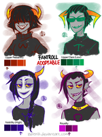 Adoptables [CLOSED]: Fantrolls - 1st Batch! by Mossygator