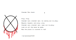 Slender Man chant by prussianwolf13