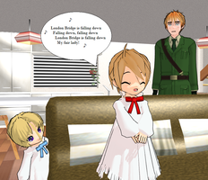 Hetalia MMD: London Bridge by Talawolf2014