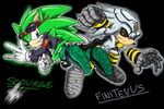 Scourge and Dr.Finitevus by ShockRabbit