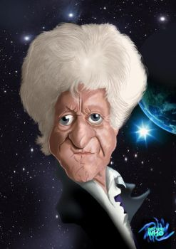 Dr Who 50th Anniversary The 3rd Doctor Jon Pertwee by Steveroberts