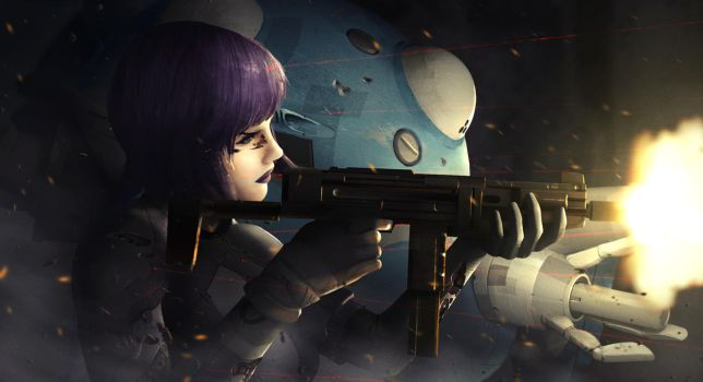 Ghost in the Shell by MeanHouseArt