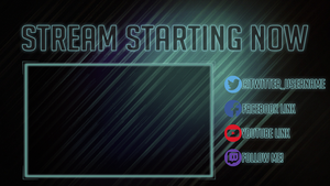 Changeable Stream Starting Now Twitch Image by Wombalar