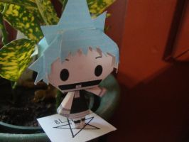 Black Star Chibi Papercraft by AnimeGang
