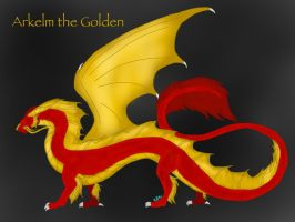 Relighting the Flames-Arkelm the Golden by ShardianofWhiteFire
