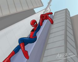 I actually drew spiderman by Abrr2000