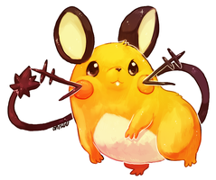 pokemon xy -- dedenne by onisuu