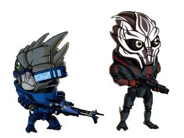 Chibi - Garrus and Nihlus by ElectroCereal