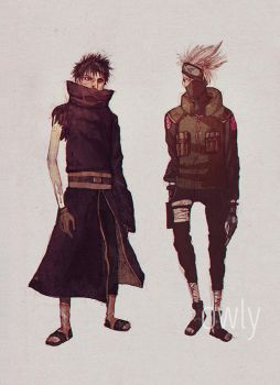 C.: Kakashi and Obito by o-w-l-y