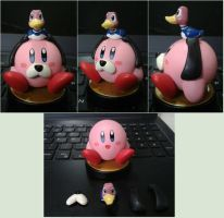 Duck-Hunt Kirby custom amiibo by Gregarlink10
