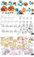 The Amazing World of Gumball Concept Art by WaniRamirez