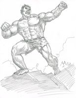 Hulk Sketch 2 by artistjoshmills