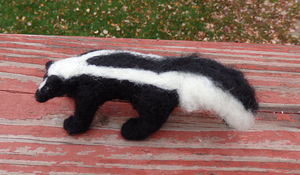 Needle Felted Striped Skunk by DancingVulture
