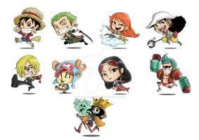 Comic Fiesta One Piece Badges by Suchalonedisskins