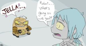 Psycho Robot X Jella :for CresentCake: by CartoonistfromHell