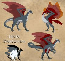 Fenix Draconems Commission by KirasDarkLight