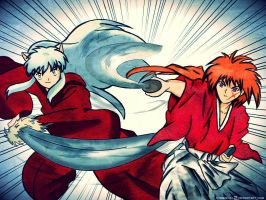 Clubkenshin Contest entry Kenshin vs inuyasha by Cygnus-X-2