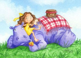 Picnic with my Hippo by Isynia-Artessa