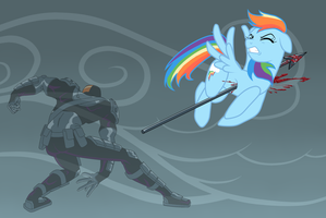 12 X-mas Days 2013 Day 4: Speared Rainbow Dash by Scintillant-H