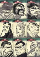 Marvel Masterpieces III Set 9 by jeffwamester
