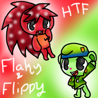 Happy Tree Friends - Flaky and Flippy by SkyWarriorKirby