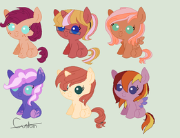MLP Applejack Shipping Adoptables by Athene112
