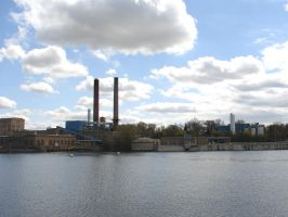 Industrial Riverfront 1 by FantasyStock