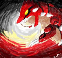 Behold...The Great Beast Groudon by 11cleyva