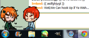 Ireland x Scotland - Shimejis by Japanzii