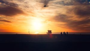 Venice Beach Sunset by deex-helios