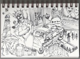 04 26 2012 Daily Draw New York April Doodle by LineDetail