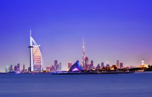 Dubai on a clear eve by bee-eye
