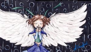 Praying Girl with Wings by MintKitty