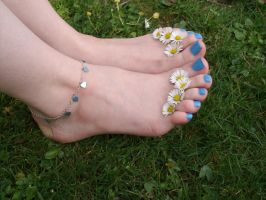 Daisy Toes by Foxy-Feet