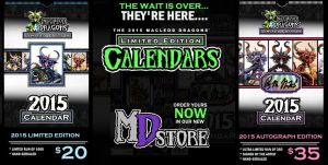 2015 MD Limited Edition 11x17 Calendars by MacLeodDragons